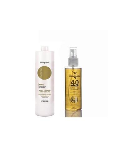 Eugene Perma Eugene Perma Essentiel Purific Şampuan 1000 Ml+Biomega 40 Bitkili Doğal Saç Bakım Yağı 150 Ml Renksiz